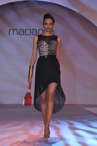 Dipannita Sharma walks the ramp at the launch of Autumn Collection by the brand MADAME