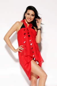 Red Cut-Out Sarong
